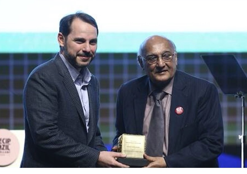Noted Pakistani literary figure Amjad Islam Amjad receives Turkey's prestigious Necip Fazil Award