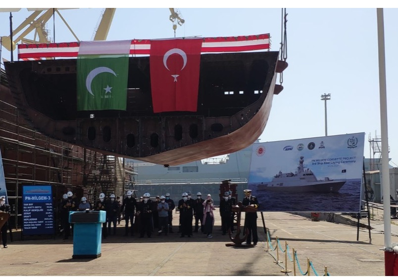 Keel Laying Ceremony of 2nd MILGEM Class Corvette for Pakistan Navy held in Istanbul