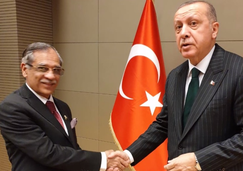 "Chief Justice of Pakistan calls on the President of Turkey as well as President of Turkish Constitutional Court; attends ""Shab-i-Arus"" in Konya"