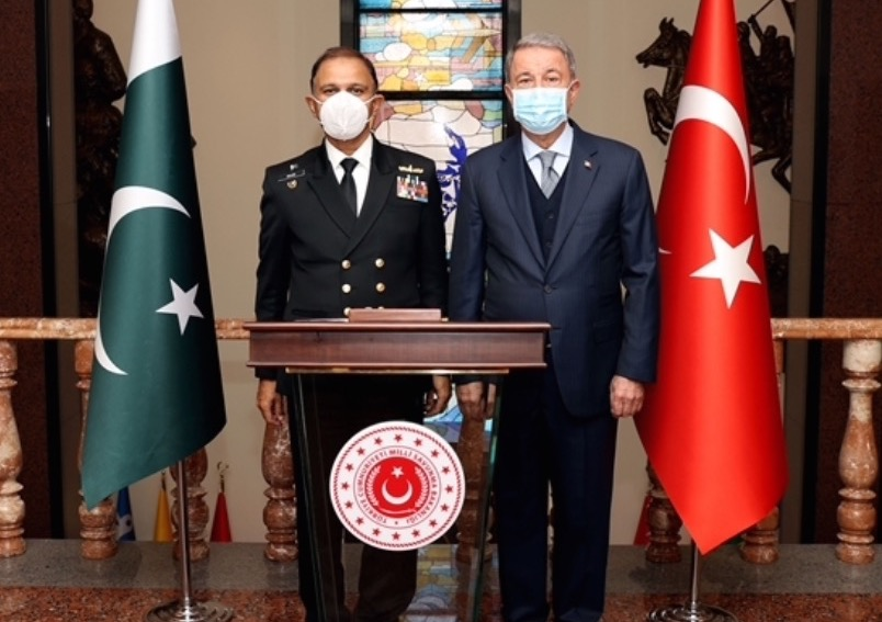 Chief of Naval Staff of Pakistan visits Turkey; Meets with Turkish Defence leadership, decorated with Turkish Armed forces medal