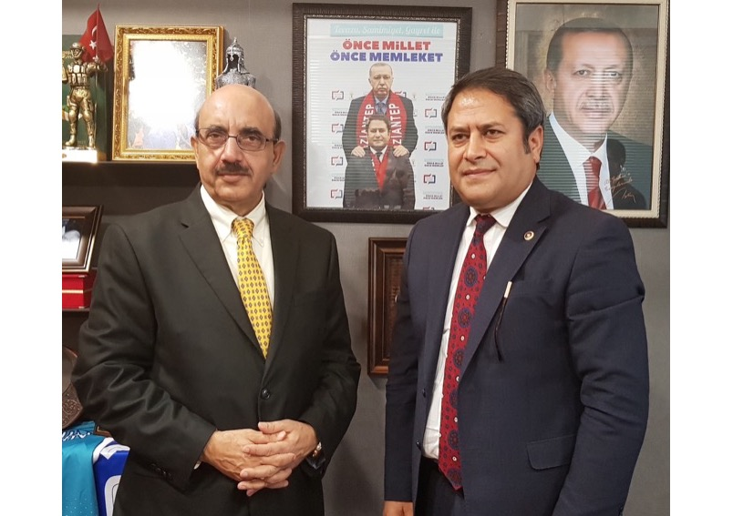 AJK President lauds Turkish Parliament, international students for their support to the Kashmir cause, and end to Indian tyranny