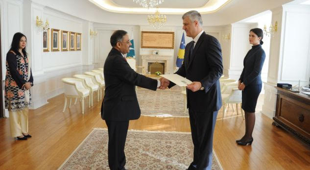 Pakistan Envoy presents Credentials to Kosovo President