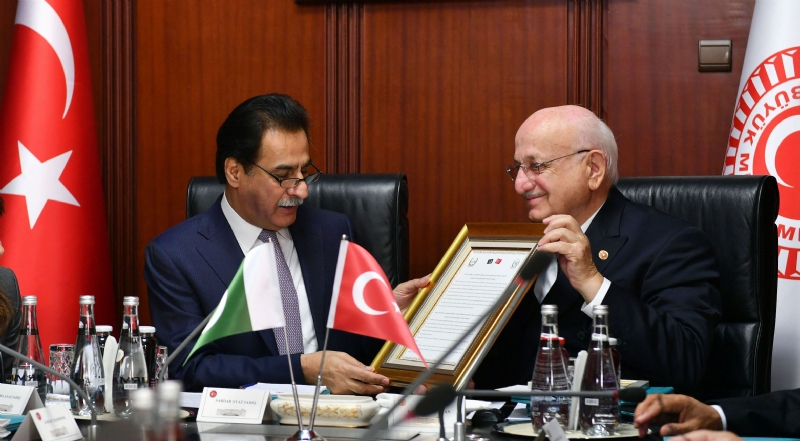 Speaker Ayaz Sadiq holds wide-ranging talks with Turkish Parliament Speaker; Receives reaffirmation of Turkey's support on Kashmir dispute