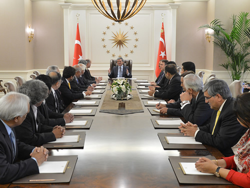 Pakistan parliamentary delegation meets with the Turkish President