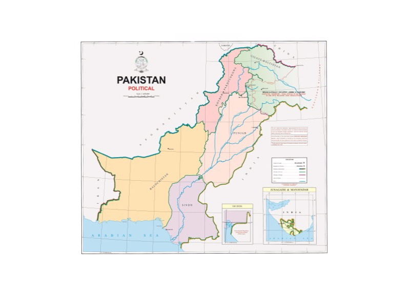 Political Map of Pakistan as released on 4th August 2020