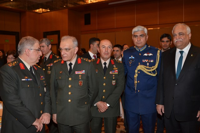 Turkish generals attending Pakistan Day Reception