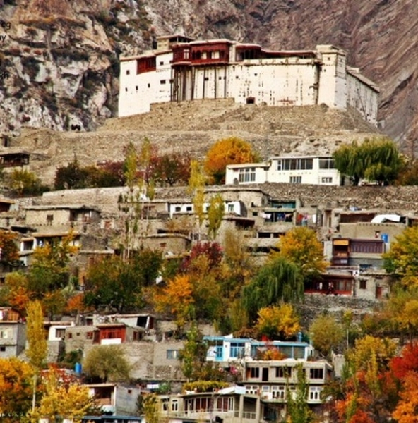 Autumn view of Baltit Fort in Hunza