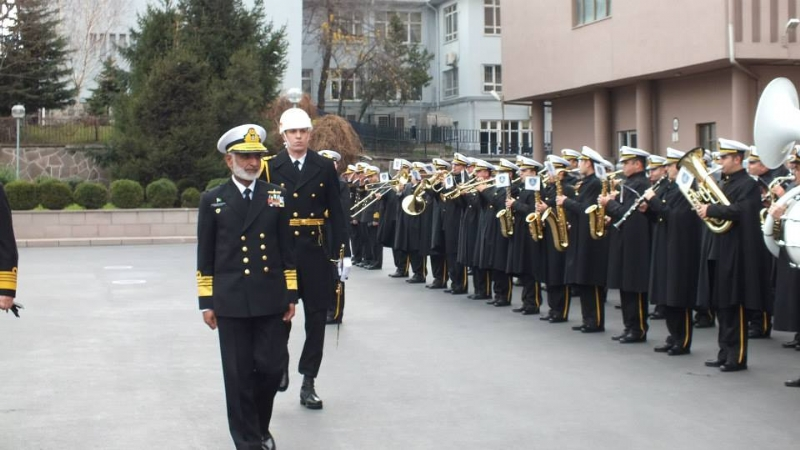 Turkish Naval Forces presented a guard of honour