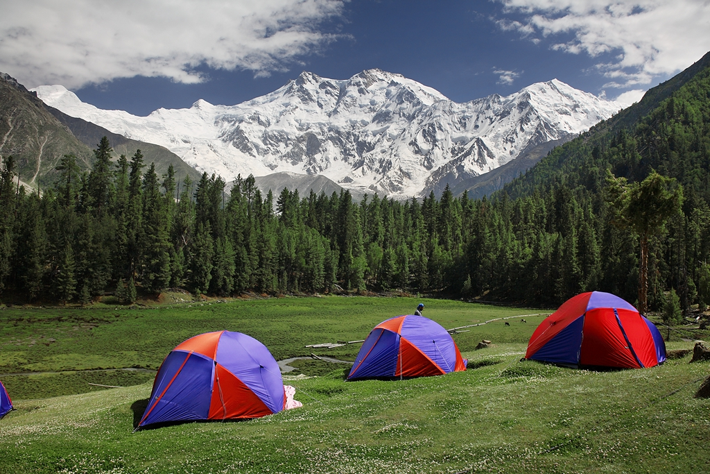 Camping at Fairy Meadow Nanga Parbat.